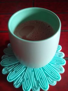 Hot chocolate in mug.