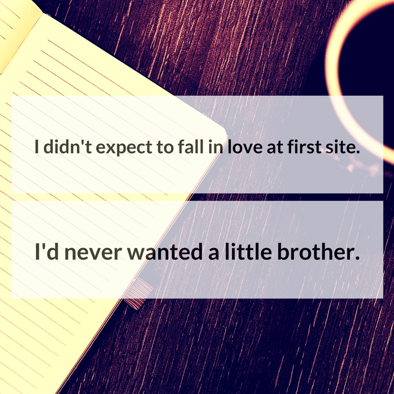 I didn't expect to fall in love at first site. I'd never wanted a little brother.