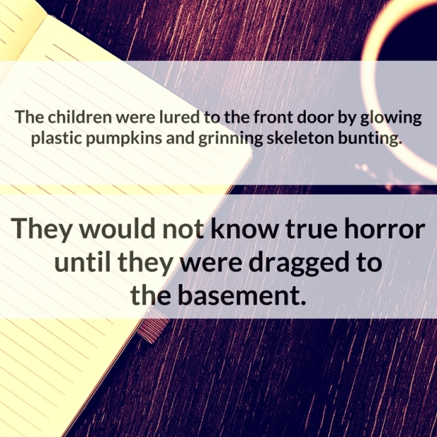 The children were lured to the front door by glowing plastic pumpkins and grinning skeleton bunting. They would not know true horror until they were dragged to the basement.